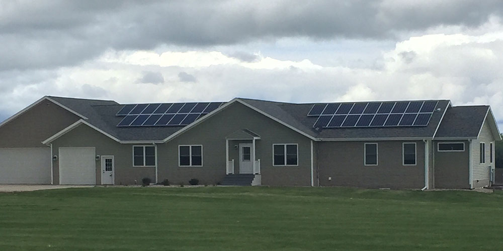 10.1kW residential solar panel installation, Milford, IA