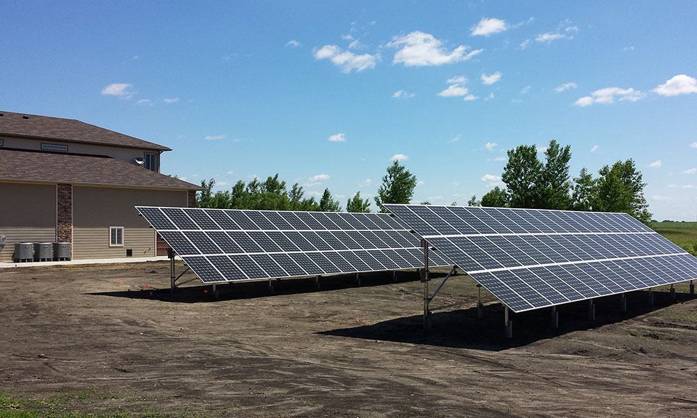 30kW residentail solar panel installation, Orleans, IA
