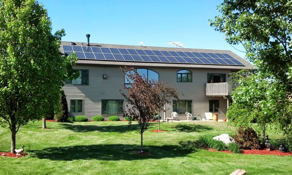 12kW Residential Solar Panel Installation located in Lake Panorama, Iowa