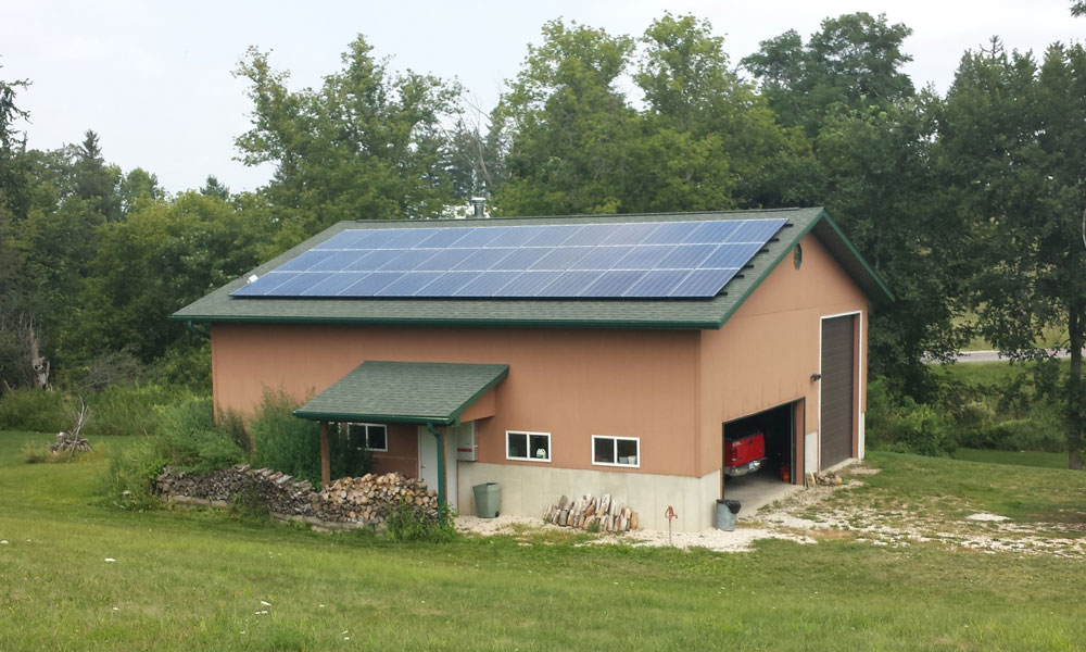 9kW residential solar panel Installation, Elkador, Iowa